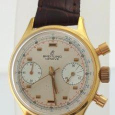 Relojes- Breitling: BRETILING CRONOGRAFO PLACADO ORO 18KT VINTAGE 1.945. Lote 173884424