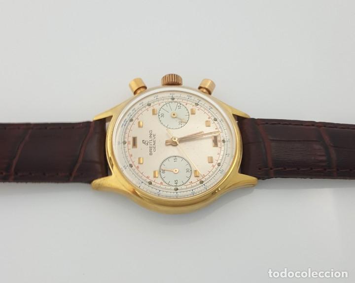Relojes- Breitling: BRETILING CRONOGRAFO PLACADO ORO 18KT VINTAGE 1.945 - Foto 2 - 173884424