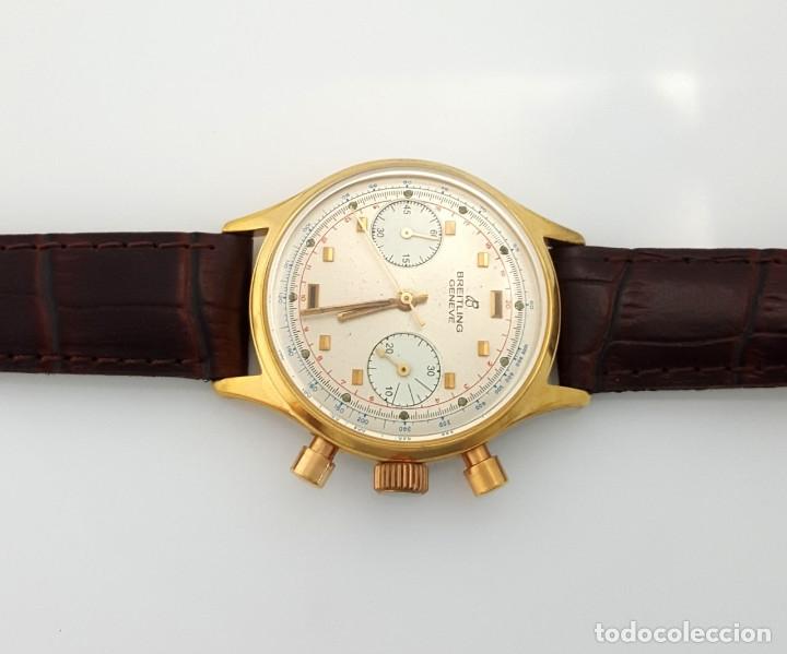 Relojes- Breitling: BRETILING CRONOGRAFO PLACADO ORO 18KT VINTAGE 1.945 - Foto 3 - 173884424