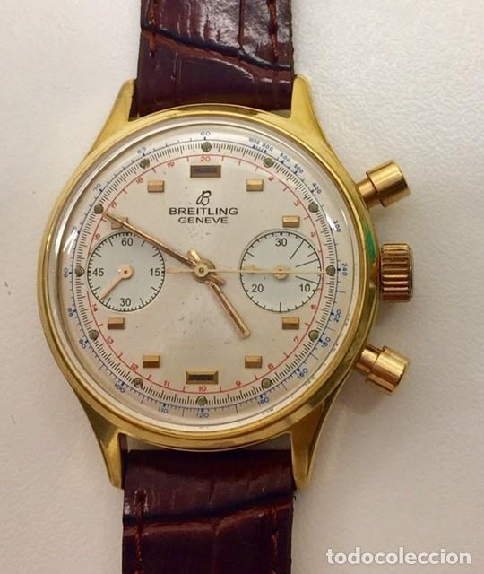 Relojes- Breitling: BRETILING CRONOGRAFO PLACADO ORO 18KT VINTAGE 1.945 - Foto 5 - 173884424