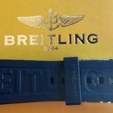 Relojes- Breitling: CORREA ORIGINAL DE CAUCHO AZUL PARA BREITLING . Lote 178914932