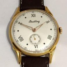Relojes- Breitling: BREITLING PLAQUE ORO 18KT. VINTAGE. Lote 181976382