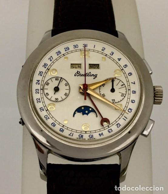 BREITLING CRONO TRIPLE DATEFASE DE LUNA C.1.940-50 (Relojes - Relojes Actuales - Breitling)