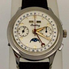 Relojes- Breitling: BREITLING CRONO TRIPLE DATEFASE DE LUNA C.1.940-50. Lote 189308550