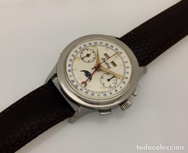 Relojes- Breitling: BREITLING CRONO TRIPLE DATEFASE DE LUNA C.1.940-50 - Foto 3 - 189308550