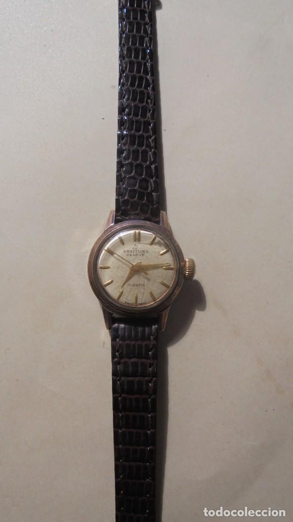 BREITLING - ANTIGUO RELOJ - DE CUERDA SEÑORA , BREITLING GENEVE 17 JEWELS SWISS MADE (Relojes - Relojes Actuales - Breitling)