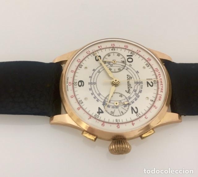 Relojes- Breitling: BREITLING CRONO ORO 18KTS.NUEVO(OLD STOCK) - Foto 2 - 197370870