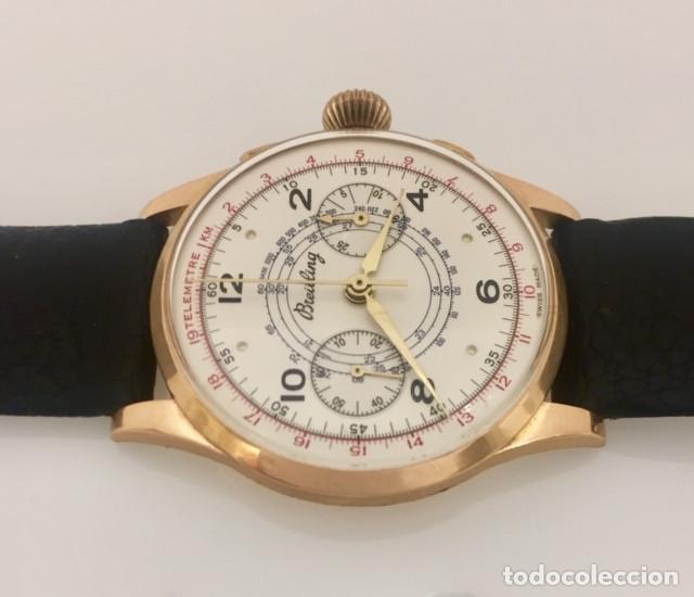 Relojes- Breitling: BREITLING CRONO ORO 18KTS.NUEVO(OLD STOCK) - Foto 3 - 197370870