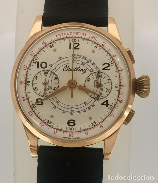 Relojes- Breitling: BREITLING CRONO ORO 18KTS.NUEVO A ESTRENAR.(OLD STOCK) - Foto 2 - 197688093