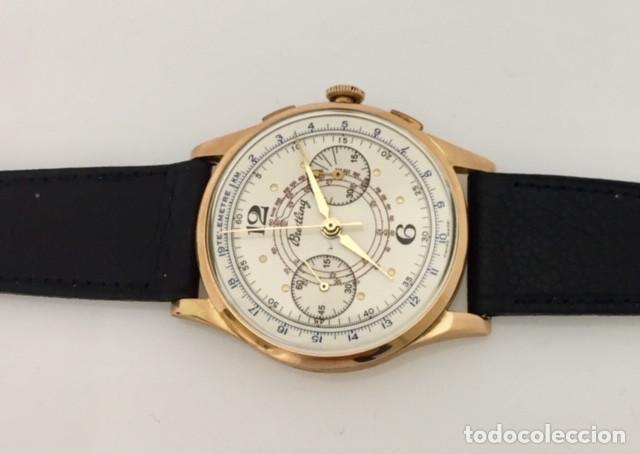 Relojes- Breitling: BREITLING CRONO ORO 18KTS.NUEVO A ESTRENAR.(OLD STOCK) - Foto 3 - 197688093