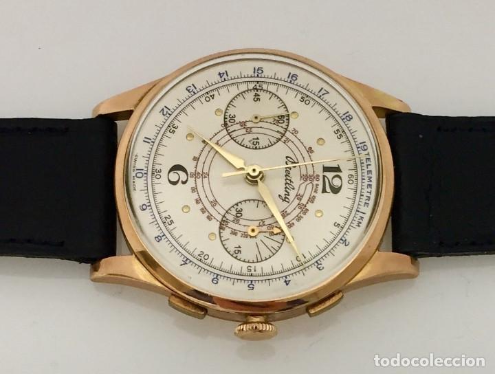 Relojes- Breitling: BREITLING CRONO ORO 18KTS.NUEVO A ESTRENAR.(OLD STOCK) - Foto 4 - 197688093