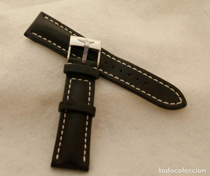 Relojes- Breitling: BREITLING NAVITIMER , SUPEROCEAN PULSERA DE CUERO + HEBILLA ACERO ORIGINAL 441X - Foto 4 - 198469698