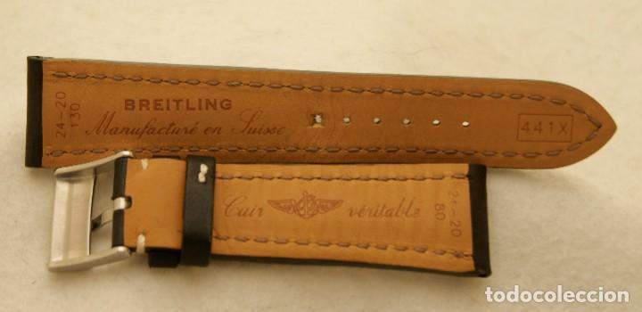 Relojes- Breitling: BREITLING NAVITIMER , SUPEROCEAN PULSERA DE CUERO + HEBILLA ACERO ORIGINAL 441X - Foto 7 - 198469698