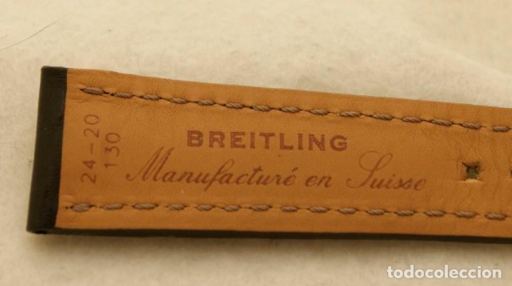 Relojes- Breitling: BREITLING NAVITIMER , SUPEROCEAN PULSERA DE CUERO + HEBILLA ACERO ORIGINAL 441X - Foto 9 - 198469698