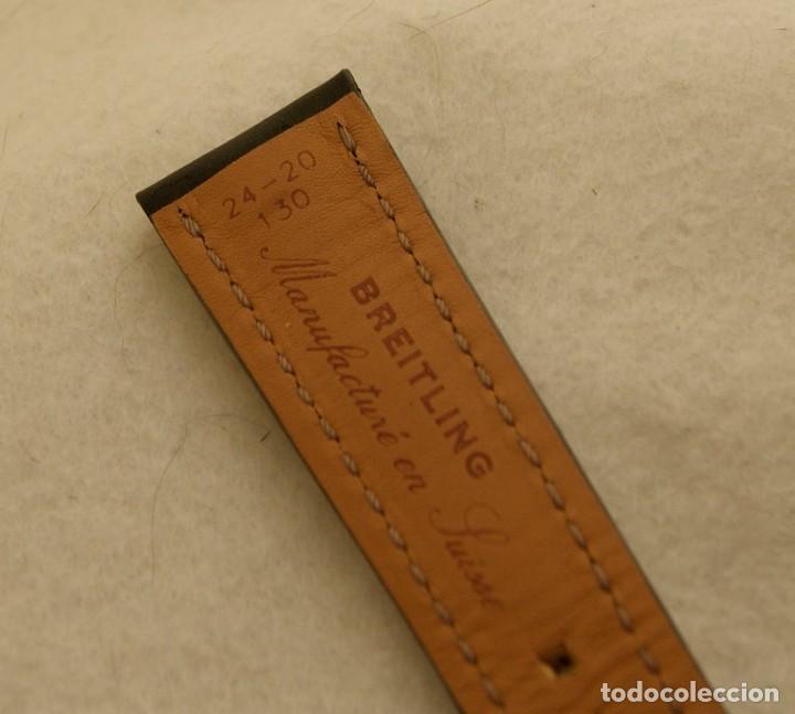 Relojes- Breitling: BREITLING NAVITIMER , SUPEROCEAN PULSERA DE CUERO + HEBILLA ACERO ORIGINAL 441X - Foto 11 - 198469698