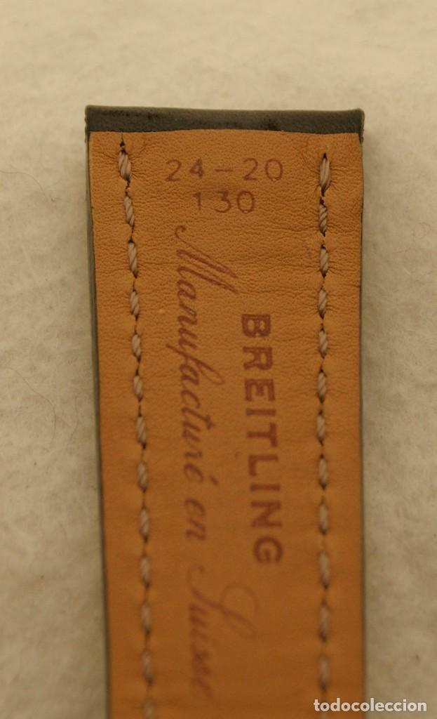 Relojes- Breitling: BREITLING NAVITIMER , SUPEROCEAN PULSERA DE CUERO + HEBILLA ACERO ORIGINAL 441X - Foto 12 - 198469698