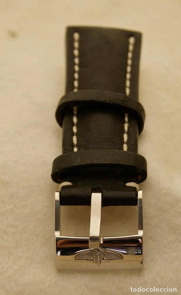 Relojes- Breitling: BREITLING NAVITIMER , SUPEROCEAN PULSERA DE CUERO + HEBILLA ACERO ORIGINAL 441X - Foto 15 - 198469698