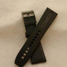 Relojes- Breitling: BREITLING CORREA CAUCHO 135S 24MM CON HEBILLA NEGRA PEGATINAS ORIGINAL. Lote 198536446