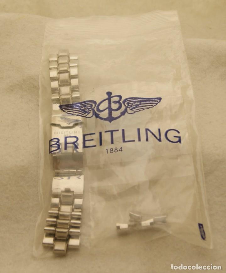 BREITLING ARMYS ACERO 20MM ORIGINAL 878A (Relojes - Relojes Actuales - Breitling)
