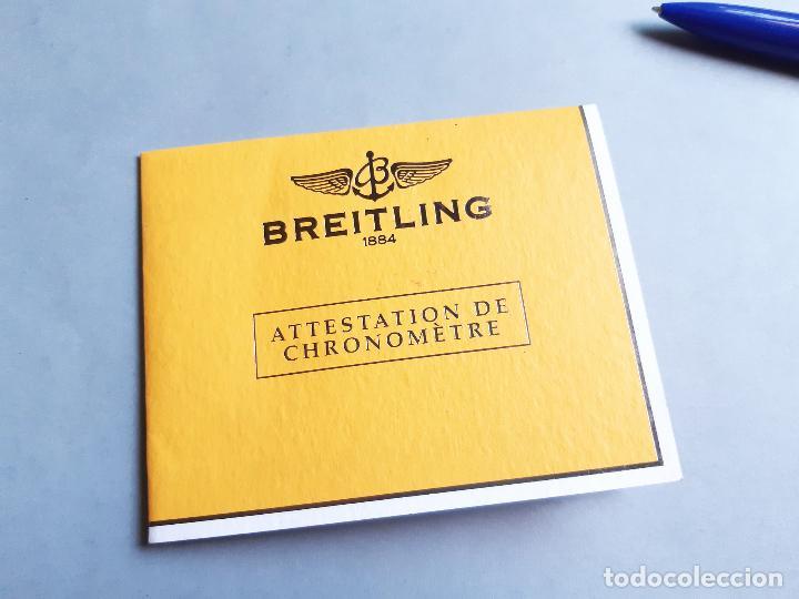 Relojes- Breitling: CERTIFICADO DE RELOJ BREITLING. ATTESTATION DE CHRONOMETRE - Foto 2 - 206994392