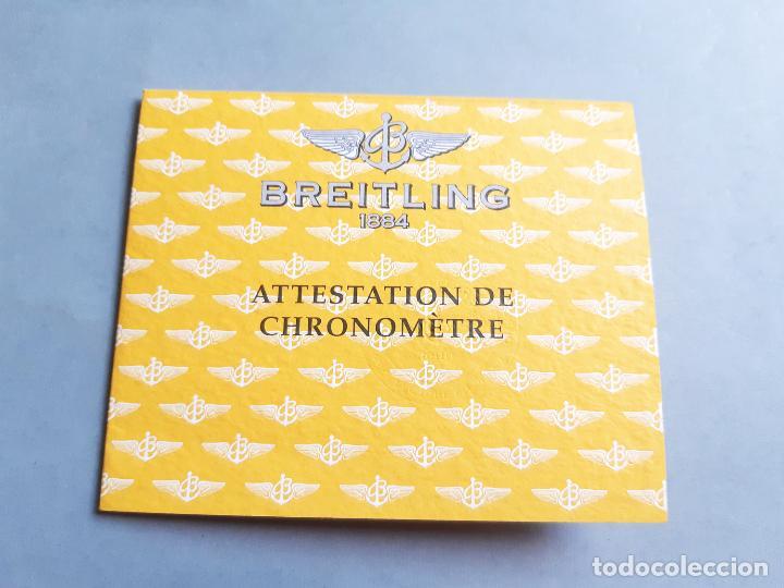 Relojes- Breitling: CERTIFICADO DE RELOJ BREITLING. ATTESTATION DE CHRONOMETRE - Foto 2 - 206995956