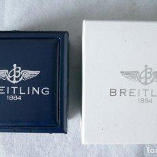 Relojes- Breitling: BREITLING CAJA CARTON + CAJA TIPO PIEL Y MADERA PARA RELOJ PULSERA. Lote 223777422