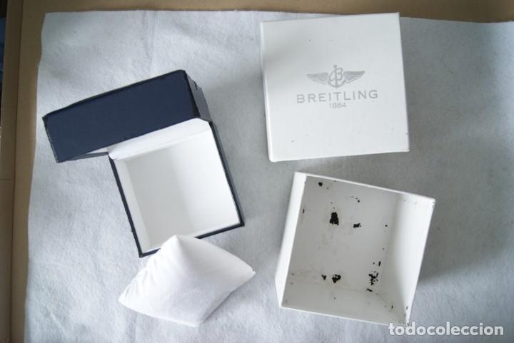 Relojes- Breitling: BREITLING CAJA CARTON + CAJA TIPO PIEL Y MADERA PARA RELOJ PULSERA - Foto 2 - 207004786