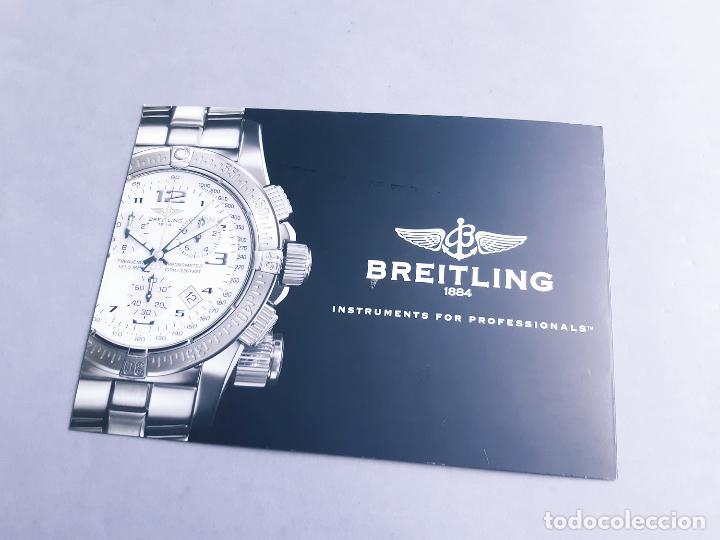 Relojes- Breitling: FOLLETO DE INFORMACIÓN DEL RELOJ BREITLING EMERGENCY 121.5 MHZ - Foto 3 - 207027778