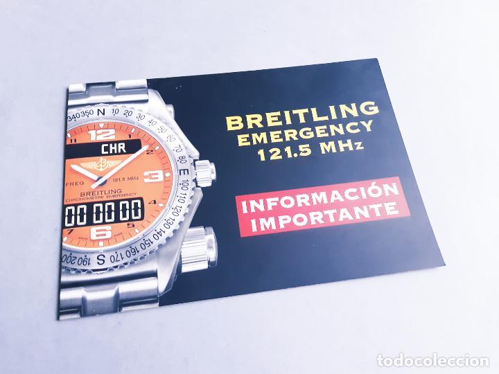 FOLLETO DE INFORMACIÓN DEL RELOJ BREITLING EMERGENCY 121.5 MHZ (Relojes - Relojes Actuales - Breitling)