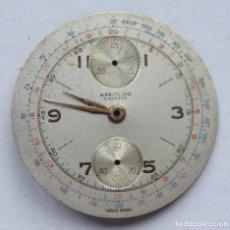Relojes- Breitling: ESFERA RELOJ BREITLING CRONOGRAFO 34MM CON AGUJAS BREITLING CADETE. Lote 207855515