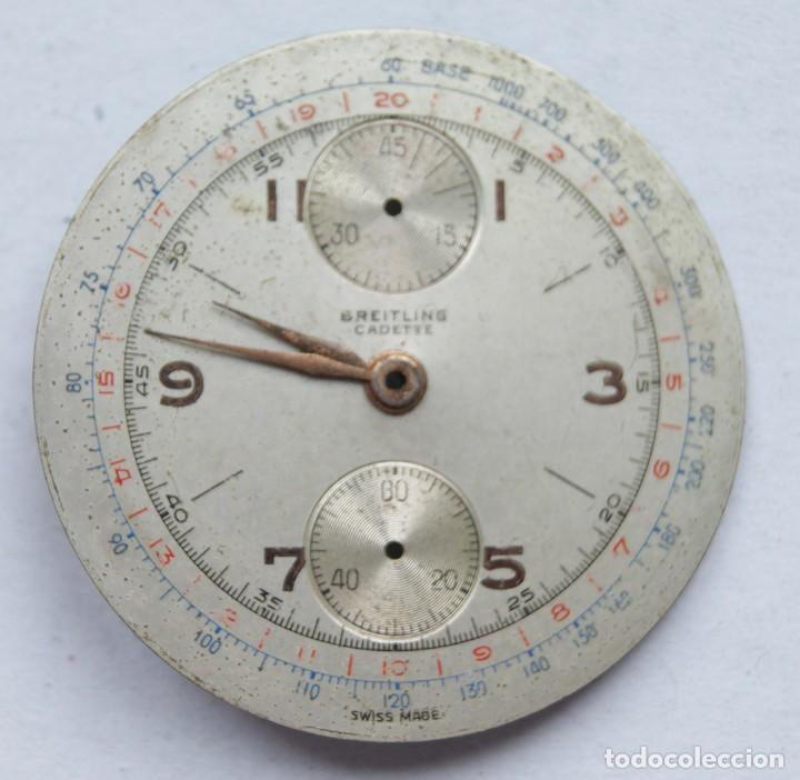 Relojes- Breitling: ESFERA RELOJ BREITLING CRONOGRAFO 34MM CON AGUJAS BREITLING CADETE - Foto 2 - 207855515