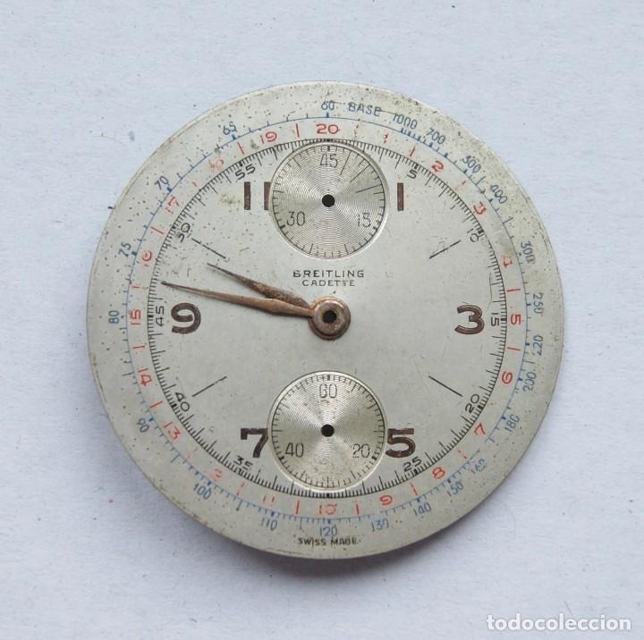 Relojes- Breitling: ESFERA RELOJ BREITLING CRONOGRAFO 34MM CON AGUJAS BREITLING CADETE - Foto 3 - 207855515