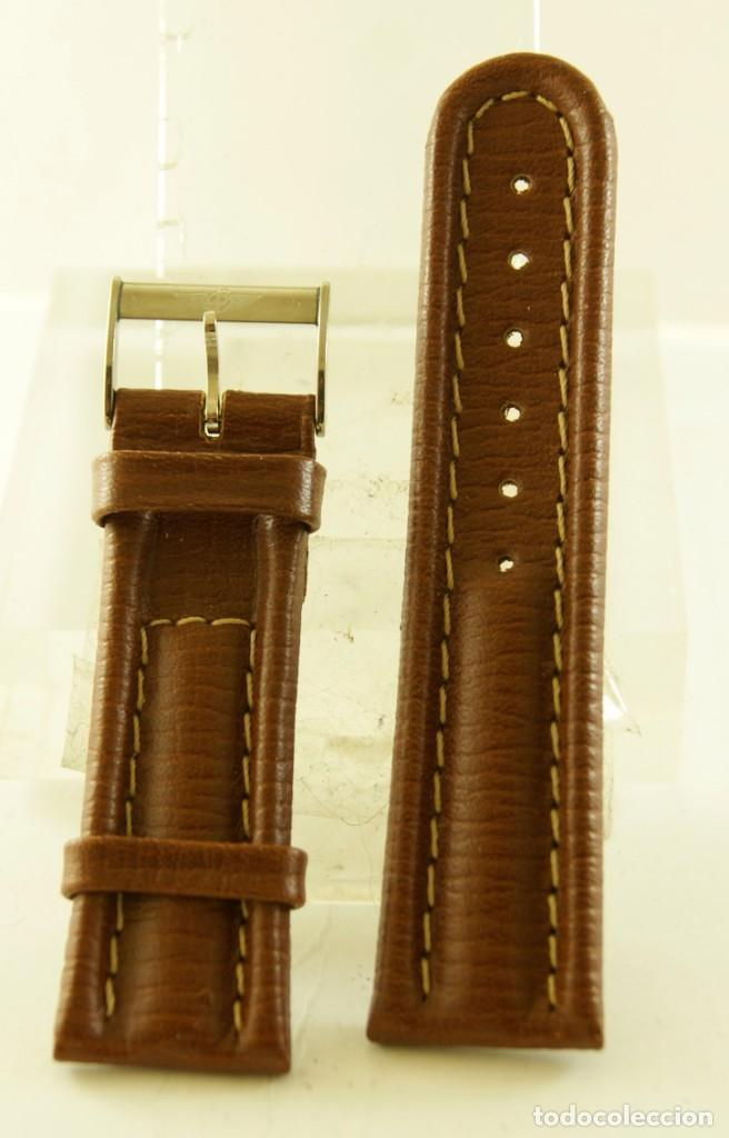 CORREA DE CUERO ORIGINAL BREITLING CON HEBILLA (Relojes - Relojes Actuales - Breitling)