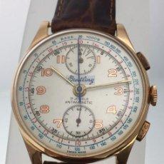 Relojes- Breitling: BREITLING VINTAGE CRONO ORO 18KTS.COMO NUEVO.. Lote 217573716