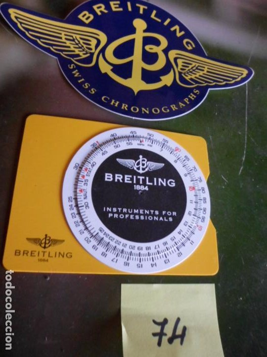 PUBLICIDAD DE RELOJES BREITLING PEGATINA Y ESFERA CON NUMERACIONES (DESCONOCEMOS SU UTILIDAD) (Relojes - Relojes Actuales - Breitling)