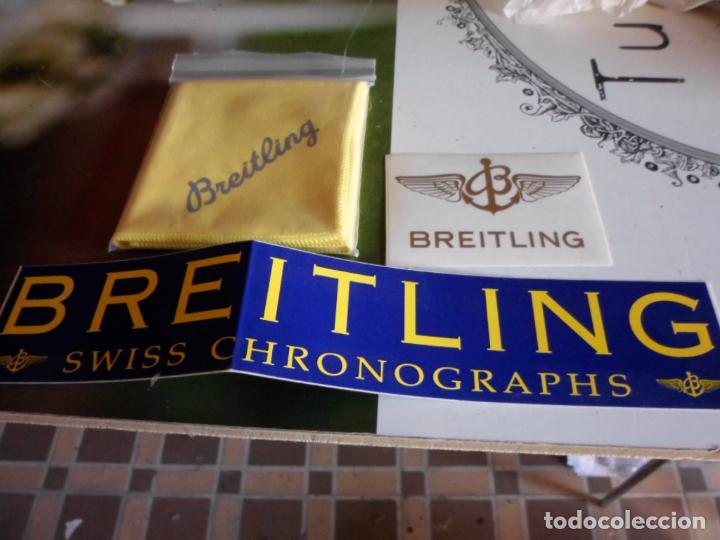 PUBLICIDAD DE RELOJES BREITLING BAYETA LIMPIEZA Y PEGATINAS (Relojes - Relojes Actuales - Breitling)