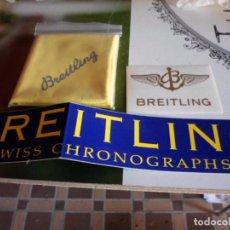 Relojes- Breitling: PUBLICIDAD DE RELOJES BREITLING BAYETA LIMPIEZA Y PEGATINAS. Lote 222935743