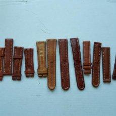 Relojes- Breitling: BREITLING LOTE DE TROZOS DE CORREAS CUERO ORIGINALES PROCEDENTES JOYERIA 16 A 20 MM. Lote 224087697