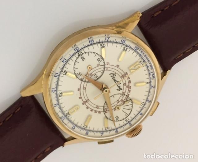 Relojes- Breitling: BREITLING CRONO ORO 18Kt.VINTAGE ¡¡NUEVO!! - Foto 2 - 232396290