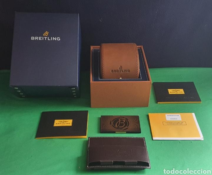IMPECABLE ESTUCHE DEL RELOJ BREITLING CON EL CERTIFICADO Y MAS COSAS VER FOTOS (Relojes - Relojes Actuales - Breitling)