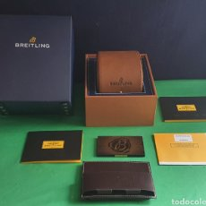 Orologi- Breitling: IMPECABLE ESTUCHE DEL RELOJ BREITLING CON EL CERTIFICADO Y MAS COSAS VER FOTOS. Lote 233522670