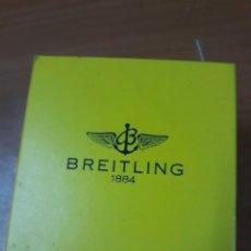 Relojes- Breitling: RELOJ BREITLING.CAJA ORIGINALMADERA Y PIEL ..AMARILLA. Lote 241460080