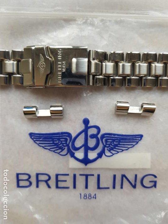 Relojes- Breitling: BREITLING S100 BRAZALETE O ARMYS ACERO SEMINUEVO 17CM PARA 20MM CON EDLINKS - Foto 3 - 242452570