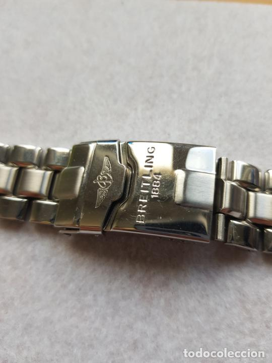 Relojes- Breitling: BREITLING S100 BRAZALETE O ARMYS ACERO SEMINUEVO 17CM PARA 20MM CON EDLINKS - Foto 5 - 242452570
