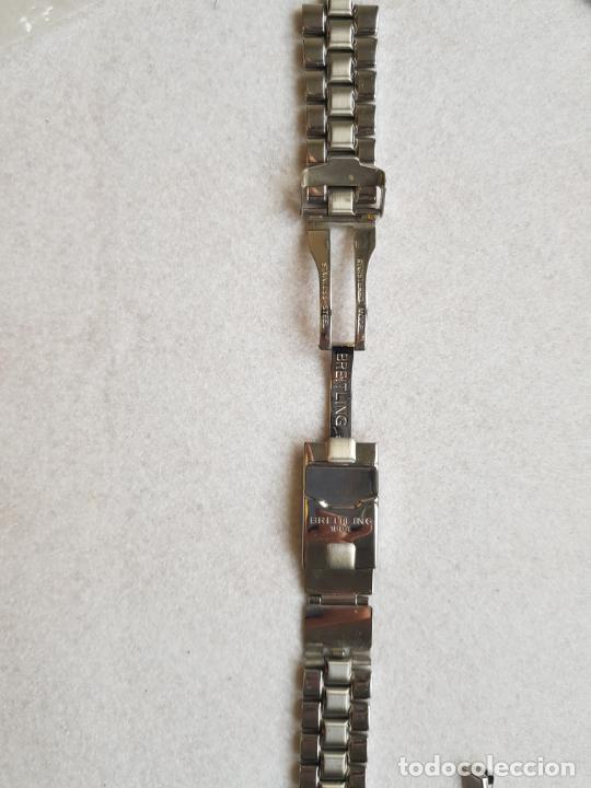 Relojes- Breitling: BREITLING S100 BRAZALETE O ARMYS ACERO SEMINUEVO 17CM PARA 20MM CON EDLINKS - Foto 7 - 242452570