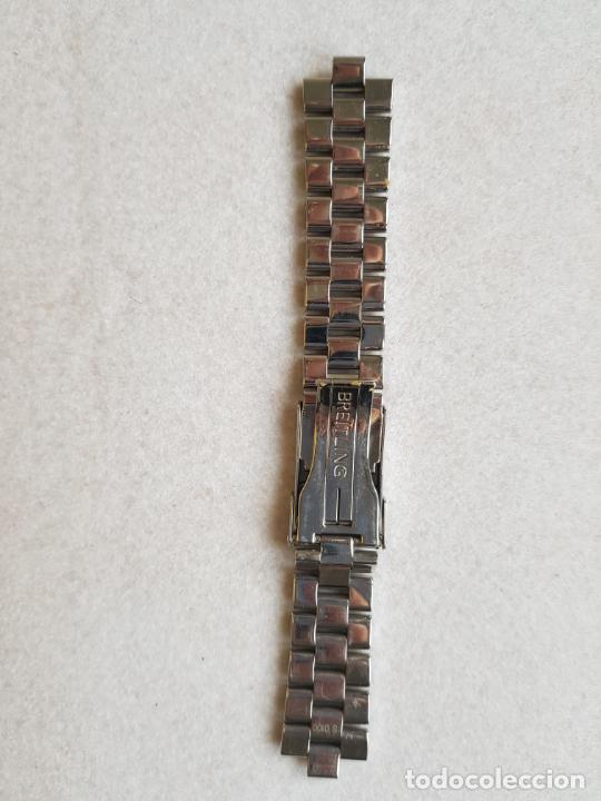 Relojes- Breitling: BREITLING S100 BRAZALETE O ARMYS ACERO SEMINUEVO 17CM PARA 20MM CON EDLINKS - Foto 10 - 242452570