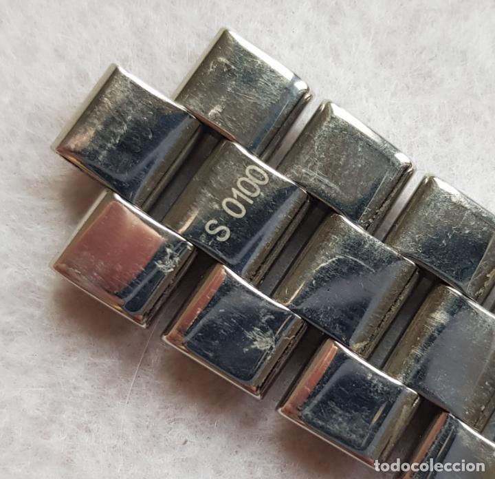 Relojes- Breitling: BREITLING S100 BRAZALETE O ARMYS ACERO SEMINUEVO 17CM PARA 20MM CON EDLINKS - Foto 13 - 242452570