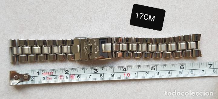 Relojes- Breitling: BREITLING S100 BRAZALETE O ARMYS ACERO SEMINUEVO 17CM PARA 20MM CON EDLINKS - Foto 14 - 242452570