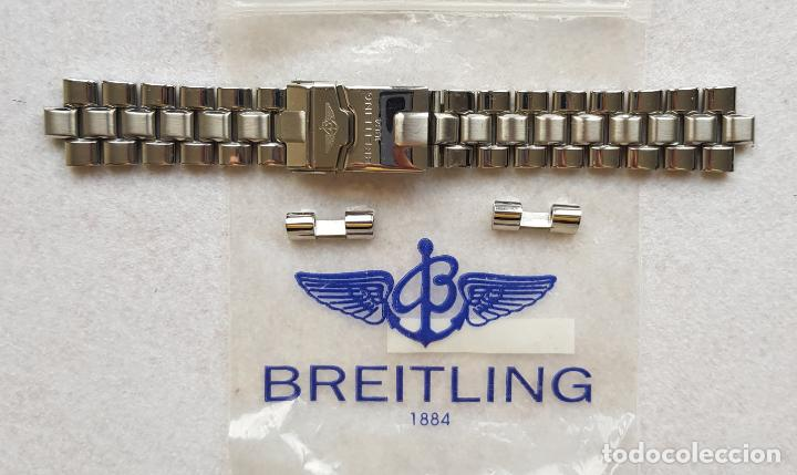 BREITLING S100 BRAZALETE O ARMYS ACERO SEMINUEVO 17CM PARA 20MM CON EDLINKS (Relojes - Relojes Actuales - Breitling)