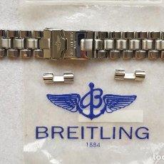 Relojes- Breitling: BREITLING S100 BRAZALETE O ARMYS ACERO SEMINUEVO 17CM PARA 20MM CON EDLINKS. Lote 242452570
